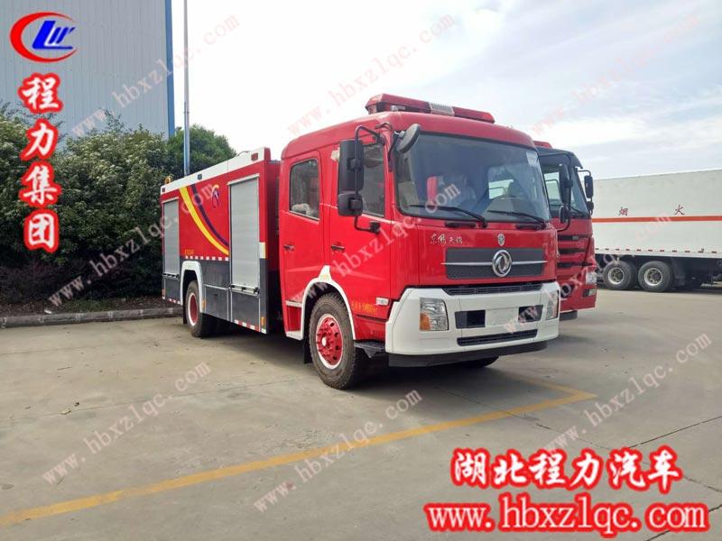 东风天锦双排水罐消防车(国五)