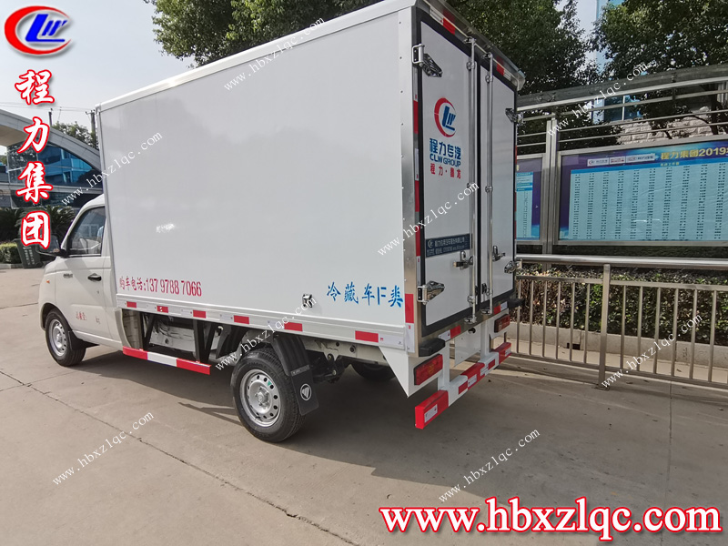 元气满满的亚博体育app官方集团祥菱V1冷藏车发车前往重庆